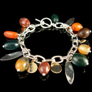 Bracelet with Barrel Beads
