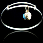 Golden Heart Bangle