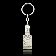 Plank Figure Silver Keyring