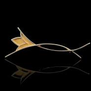 Stylised Lotus Brooch